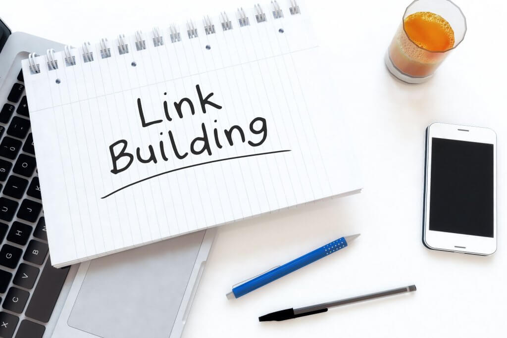Link building for SEO strategy concept image