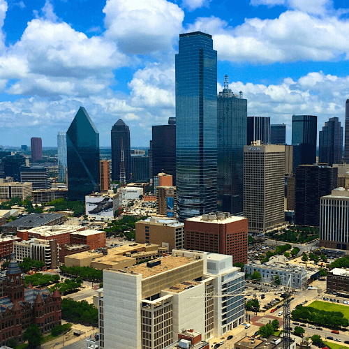 A view of the city of Dallas
