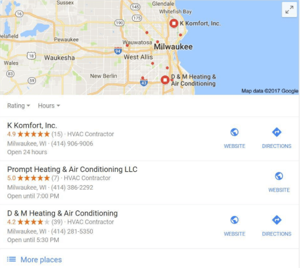 local search result